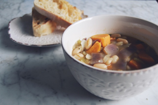 Vegan Orgasmic Tuscan White Bean Soup